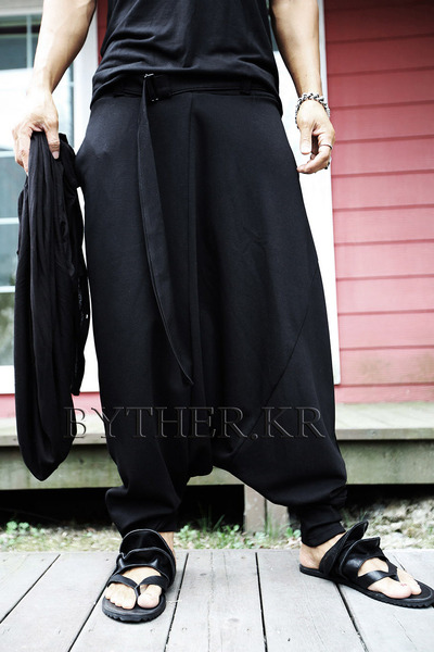 ByTheR Belt Line Wide Baggy Pants