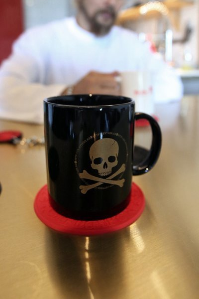 ByTheR Symbol Skull Logo Decoration Custom Cermaic Mug Cup