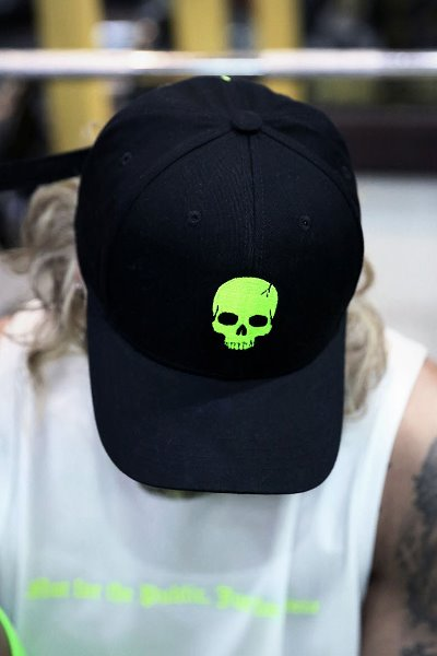 ByTheR Skull Embroidery Ball Cap Lime