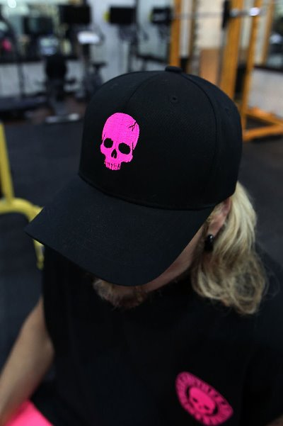 ByTheR Skull Embroidery Ball Cap Pink