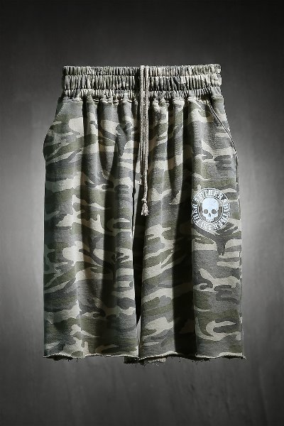 ByTheR skull logo military cut shorts