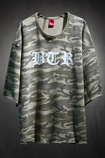 ByTheR Lettering Logo Military Cut Short Sleeve Tee