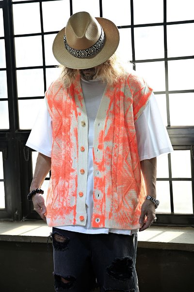 Hand Free Painting Loose Fit Vest